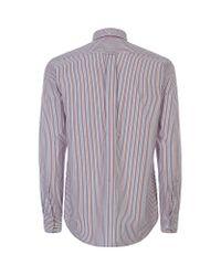 GANT Black Regular Fit Striped Shirt for men