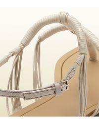 Gucci Natural Anita Leather Thong Sandal
