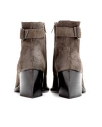 Helmut Lang Brown Suede Ankle Boots