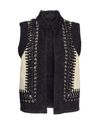 H&M Black Embroidered Waistcoat