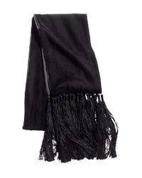 H&M Black Velvet Scarf