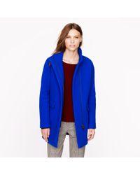 J.Crew Blue Petitestadiumcloth Cocoon Coat