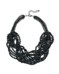 ASOS - Black Just Acces Fay Chain Bead Necklace - Lyst