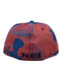 KENZO Red Unisex New Era Camouflage Printed Flat Peak Cap