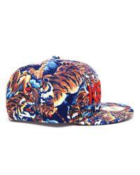 KENZO Multicolor Unisex New Era Tiger Printed Flat Peak Cap