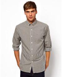Lambretta Gray Gingham Shirt for men