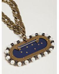 Lanvin Metallic Show Piece Collier Necklace