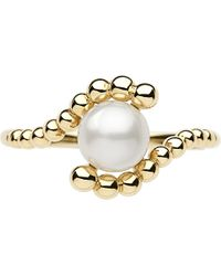 Links of London | White Effervescence 18 Carat Gold Mini Pearl Ring - For Women | Lyst