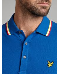 Lyle & Scott - Blue Classic Tipped Polo Shirt for Men - Lyst