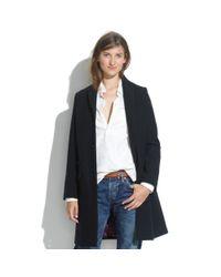 Madewell Blue Chimalareg Saddle Habit Wool Chester Coat
