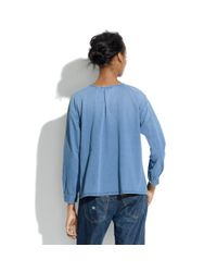 Madewell Brown Vintage Denim Smock Shirt