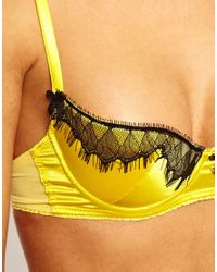 Mimi Holliday by Damaris Yellow Love Bug Fully Padded Super Plunge Bra