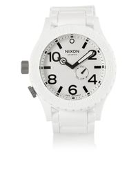 Nixon White The Simplify Rubber Watch