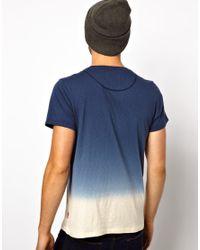 Paul Smith Blue Dip Dye Tshirt for men