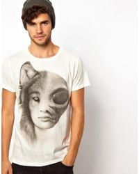 Paul Smith White Wolf Alien Girl Tshirt for men