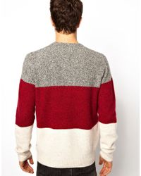Paul Smith Red Color Block Sweater for men
