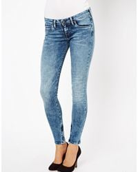 Pepe Jeans Blue London Cher Ankle Zip Skinny Jeans