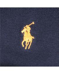 Ralph Lauren Blue Rugby Stripe Solid Socks for men