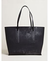Rick Owens Black Womens Oversized Leather Shopper Bag