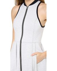 T By Alexander Wang Natural Jersey Bonded Neoprene Dress