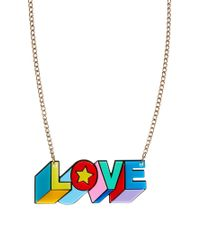 Tatty Devine Red Psychedelic Love Necklace