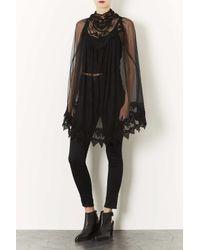 TOPSHOP Black Gothic Lace Cape