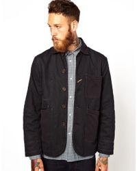 Universal Works Black Bakers Jacket for men