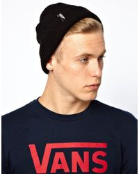 Vans Black Mismoedig Beanie Hat for men