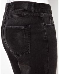 Won Hundred Black Fossil Boyfriend Jeans with Splits At Knee