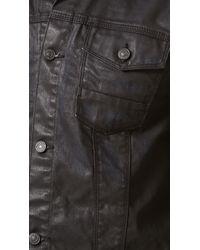 7 For All Mankind Black Coated Denim Jacket for men