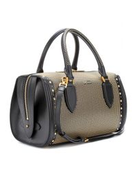 Alexander McQueen Natural Heroine Studded Leather Bowling Bag