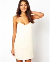 ASOS Natural Cami Slip Mini Dress