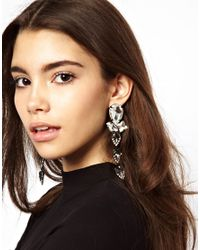 ASOS - Metallic Asos Premium Crystal Spear Earrings - Lyst