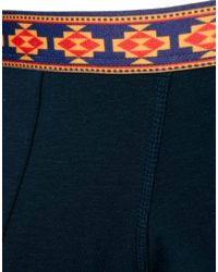 ASOS - Blue Trunk with Aztec Waistband for Men - Lyst