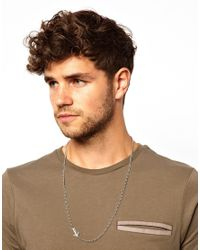 Replay Metallic Asos Necklace with Anchor for men