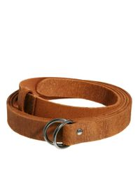 ASOS Brown Leather Double Wrap Belt for men