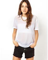 ASOS White Power Mesh Tshirt