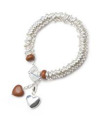 Charmology Brown Wealth Goldstone Caterpillar Charm Bracelet
