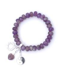Charmology | Purple Peace Amethyst Bead Charm Bracelet | Lyst