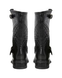 Dune Black Router Quilted Biker Boots
