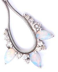 Fernando Jorge Metallic Diamond Opal Gold Electric Loop Earrings