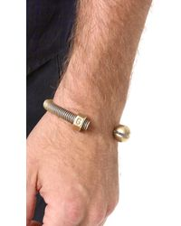 Giles & Brother Metallic Nut & Bolt Cuff for men