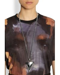 Givenchy - Metallic Medium Shark Tooth Silvertone Necklace - Lyst