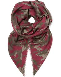 Jane Carr Purple Camouflage Stole Scarf for men