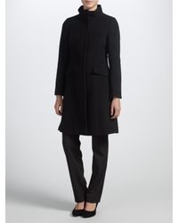 John Lewis Black Funnel Neck Coat