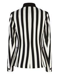 Karen Millen White Graphic Stripe Blazer