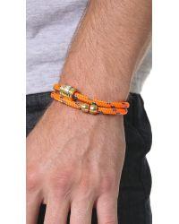 Miansai Orange Casing Rope Wrap Bracelet for men