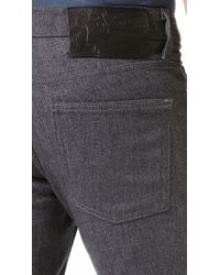 Naked & Famous - Gray Skinny Stretch Jeans for Men - Lyst