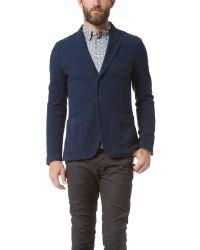 Paul Smith Blue 3 Button Cotton Jacket for men