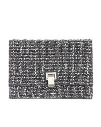 Proenza Schouler Gray Small Lunch Bag Leather Clutch